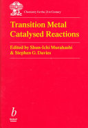 Transition Metal Catalysed Reactions