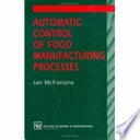 Automatic Control Of Food Manufacturing Processes Book PDF