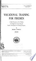 Vocational Training for Firemen