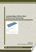 Leading Edge of Micro-Nano Science and Technology