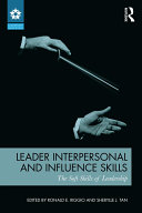 Leader Interpersonal and Influence Skills Pdf/ePub eBook