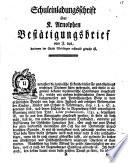 Schuleinladungsschrift über K. Arnolphen Bestätigungsbrief vom J ...