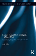 Social Thought in England  1480 1730