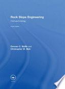 Rock Slope Engineering