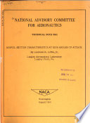 Technical Note - National Advisory Committee for Aeronautics