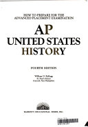 How to Prepare for the Advanced Placement Examination  AP American History Book