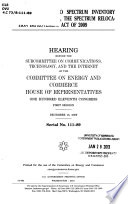 H R  3125  the Radio Spectrum Inventory Act  and H R  3019  the Spectrum Relocation Improvement Act of 2009