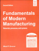 Fundamentals Of Modern Manufacturing Materials Processes And Systems 2nd Ed Book PDF