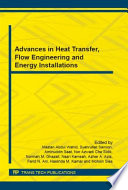 Advances In Heat Transfer Flow Engineering And Energy Installations Book PDF