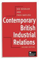 Contemporary British Industrial Relations