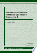 International Conference on Material Science and Engineering III