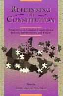 Rethinking the Constitution Book