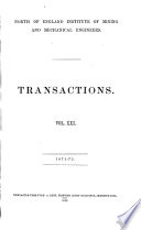 Transactions - North of England Institute of Mining and Mechanical Engineers