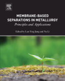 Membrane-Based Separations in Metallurgy