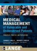 Medical Management of Vulnerable   Underserved Patients  Principles  Practice  Population