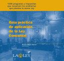 Guía práctica de aplicación de la ley concursal