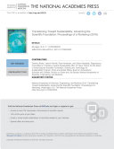 Transitioning Toward Sustainability