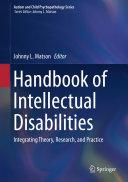 Handbook of Intellectual Disabilities