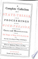 A Complete Collection Of State Trials And Proceedings For High Treason And Other Crimes And Misdemeanours 1648 1679
