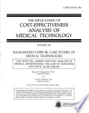The Implications of Cost effectiveness Analysis of Medical Technology   Background Paper  2 Book