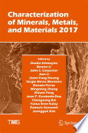 Characterization of Minerals  Metals  and Materials 2017