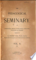 The Pedagogical Seminary