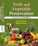 Fruit And Vegetable Preservation Book PDF
