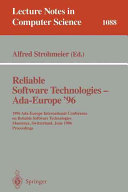 Reliable Software Technologies   Ada Europe 96