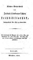 Bücherverzeichniss der Joseph Lindauer'schen Leihbibliothek
