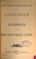 Catalogue of the Exhibits in the New South Wales Courts