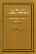 Philosophical Papers  Volume 1  Mathematics  Matter and Method