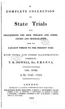 A Complete Collection of State Trials and Proceedings for High Treason and Other Crimes and Misdemeanors