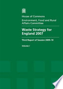 Waste Strategy For England 2007