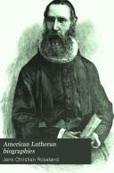 Pdf American Lutheran Biographies