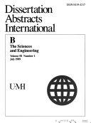 Dissertation Abstracts International Book