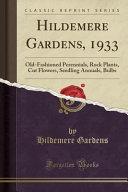 Hildemere Gardens  1933