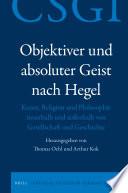 Objektiver und absoluter Geist nach Hegel
