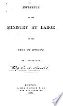 Influence Of The Ministry At Large In The City Of Boston