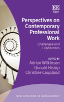 Perspectives on Contemporary Professional Work Pdf/ePub eBook