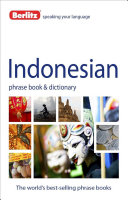 Indonesian Phrase Book Dictionary Book