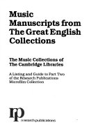 The Music Collections of the Cambridge Libraries Book PDF