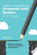 Academic Language Mastery  Grammar and Syntax in Context