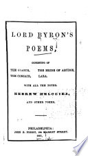 Lord Byron s Poems