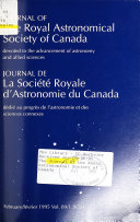 The Journal of the Royal Astronomical Society of Canada