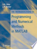 An Introduction To Programming And Numerical Methods In Matlab Book PDF
