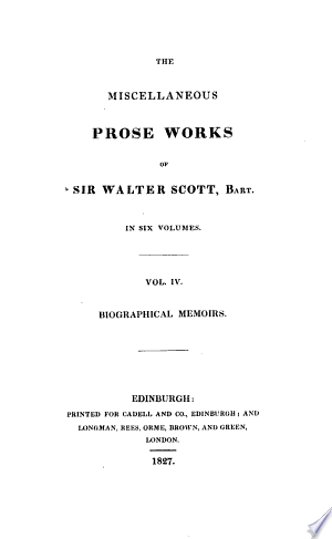 Download The miscellaneous prose works of sir Walter Scott PDF