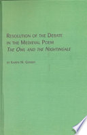Resolution of the Debate in the Medieval Poem  : The Owl and the Nightingale