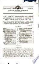 Effect of Plant Arrangement  Equipment  and Methods of Operation in Relation to Breakage of Bottles in Milk Plants
