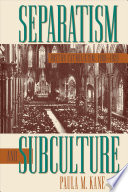Separatism And Subculture Book