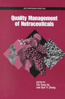 Quality Management of Nutraceuticals Book
